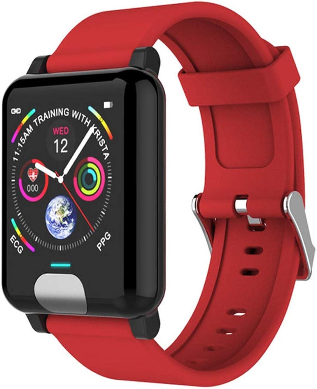 Wertyhy Smart Uhr Sport Farbdisplay Smart Watch ECG PPG Herzfrequenz Blautdrucküberwachung Pedometer Wasserdichte SmartWatch Für Android IOS