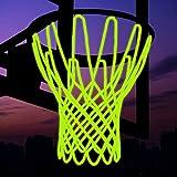 XUECHEN Glow in The Dark Basketball Net,Basketball Hoop Net Replacement,All-Weather Heavy Duty Thick Basketball Net,Outdoor Indoor Basketball Net,Professional Standard Size Basketball Goal Net