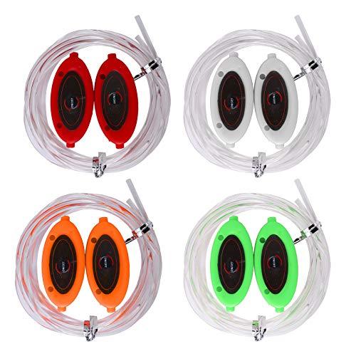 Herefun Bunt LED Schnürsenkel Leuchte Schnürsenkel 3 Lichtmodi leuchtende Schuhbänder aus PVC Perfect für Outdoor-Sport Tanzen Laufen Party, Skaten Partys, Kindergeschenke (Rot | Grün | Gelb | Farbe)