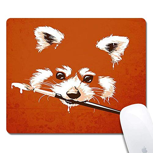 Firefox Extended Ergonomic Gaming Mouse Pad, Rechteck-Mauspad Gummi-Rechteck-Mauspad-Firefox