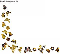 SPIRITED Butterfly 3D Mirror Acrylic Wall Stickers Home Office and Latest Decoration-(Golden-Pack of 20)