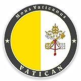 2 x 10cm/100 mm El Vaticano, Roma, Italia banderaAdhesivo para ventana adhesivo coche FURGONETA FURGONETA Glass #9510