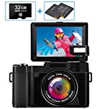 Macchina Fotografica Fotocamera Digitale Full HD 2.7K 30MP Fotocamera Vlogging per YouTube...