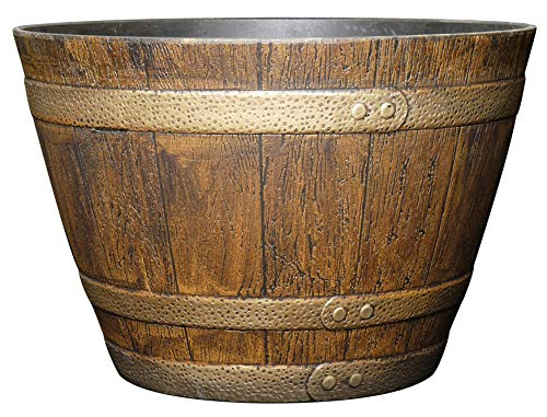 "Classic Home and Garden 72 Whiskey Barrel 15"" Distressed Oak"