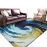 LH-RUG Teppiche & Matten Designer-Teppich Nordic Creative Rechteckige Matten Wohnzimmer Sofa Kaffee Bett Schlafzimmer Nachttisch Teppich (blau) (größe : 160 * 230cm)