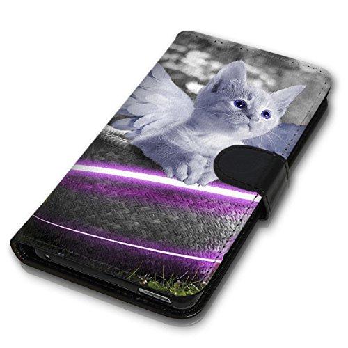 wicostar Book Style Handy Tasche - Design MV-146 - Kompatibel mit HTC One M8 / M8S - Cover Case Schutz Hülle Etui Schutzhülle