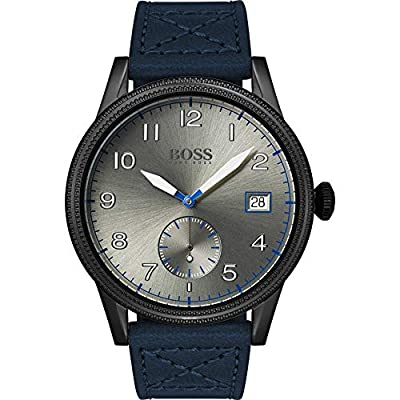 Hugo Boss Mens Analogue Classic Quartz Watch with Leather Strap 1513684
