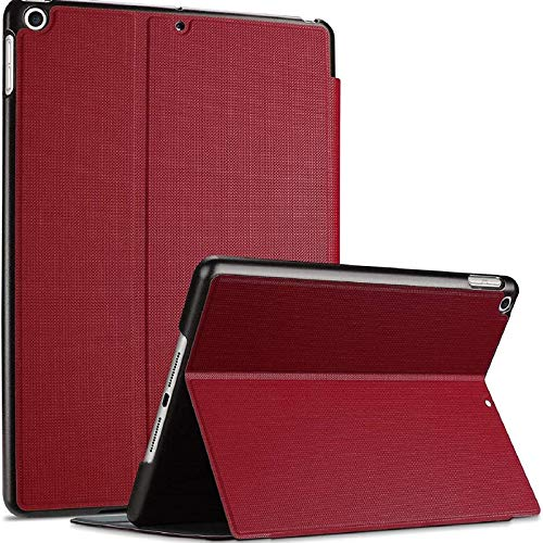 ProCase iPad 10.2 Case 2020 2019 (7th 8th Generation), Shockproof Lightweight Slim Protective Book Case Folio Cover, for iPad 7 / iPad 8 -Red