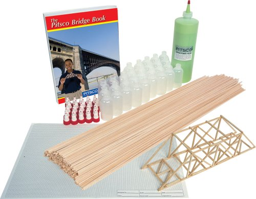 Pitsco Balsa Wood BridgePak Kit (For 25 Students)