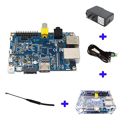 SmartFly Info Original Banana Pi M1 A20 Dual Core 1 GB RAM Open-Source-Entwicklungsboard Single Board Computer Raspberry Pi kompatibel BPI M1+Acrylic Case