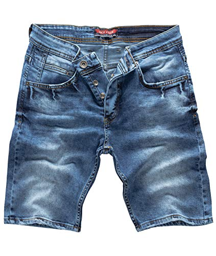 Rock Creek Herren Shorts Jeansshorts Denim Stretch Sommer Shorts Regular Slim [RC-2122 - Used Blue W33]