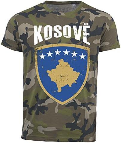 Aprom-Sports Camiseta de Kosovo Camouflage Army WM 2018