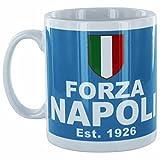 Tazza in ceramica souvenir con scritta Forza Napoli (Serie A) e Diego Maradona, 325 ml