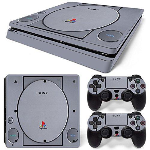 Sony PS4 Playstation 4 Slim Skin Design Foils Pegatina Set - Retro PSOne Motivo