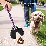 Sorand Recogedor de plástico para desechos de Mascotas, recogedor de Caca de Perro, Resistente y Duradero para desechos de Mascotas en Todas Las Superficies Que recogen los desechos(Purple)