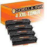 Gorilla-Ink 4 Cartuchos de tóner XXL con Chip Compatible con Canon CRG-054H 054 H   Adecuado para LBP620 LBP621CW LBP623CDW LBP640 LBP640C MF640 MF640C MF641CN MF641CW MF642CDW MF643CDW