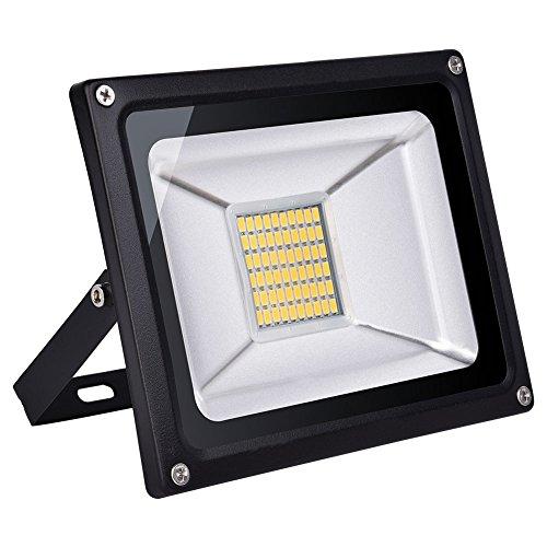 Foco proyector LED 20W/30W/50W/100W/150W/200W/300W/500W para exteriores, 1000LM-35000LM, Blanco cálido 2800K-3500K resistente al agua IP65, luz amplia, luz de seguridad Floodlight (30)