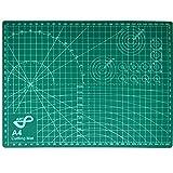 Tabla de Corte A4 Doble Cara 30 x 22cm Plancha de Corte 3 capas para Costura y Manualidades Base de Corte para Patchwork Cutting Mat, Color Verde