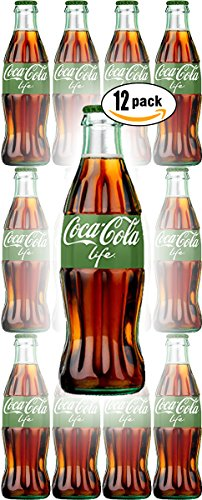 Coca-Cola Life Reduced Calorie with Stevia, 8 Fl Oz Glass Bottle (Pack of 12, Total of 96 Oz)