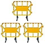 Valla de plástico obra peatonal en color amarillo, valla con patas extraíbles de 1 metro (3- Vallas)