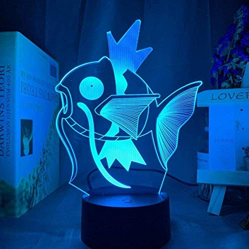 YOUPING 3D Illusion Lamp Led Night Light Go Magikarp Kids for Kid Bedroom Decorative Event Prize Cool Friends Birthday Gift Children s Room Decoration