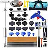 Auto Body Paintless Dent Removal Kit - 43PCS Car Dent Puller Kit with Slide Hammer T-bar Dent Puller and Bridge Dent Puller for Car Dent Repair and Metal Surface Dent Removal