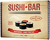 Froy Posterholiday Travel Agency Sushi Bar Wand Blechschild
