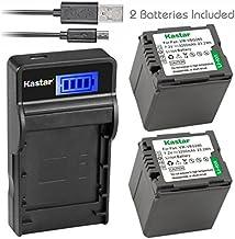 Kastar Battery (X2) & Slim LCD Charger for Panasonic VW-VBG070, VW-VBG130, VWVBG260, VBG6 and SDR-H40, SDR-H80 Series, HDC...