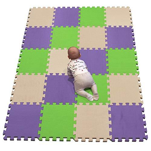 YIMINYUER Alfombra puzles para Bebe Puzzle Infantil Suelo Piezas Goma eva ninos de Suelo Grande Infantiles Beige Púrpura Pastoverde R10R11R15G301020