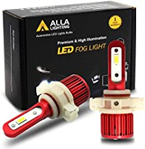 Alla Lighting 5200lm AL-R PS24W 5201 5202 LED Fog Lights Bulbs Extremely Super Bright 5201 5202 LED Bulb 6000K Xenon White PS19W PS24W 12085 DRL Replacement for Cars, Trucks