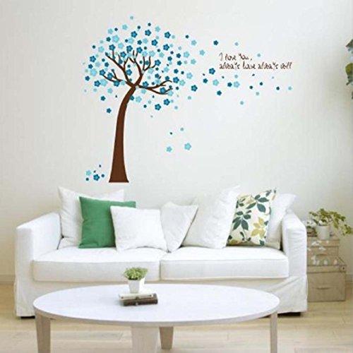 Vovotrade Stickers muraux Art Stickers Mural Wallpaper Home Decor Chambre bricolage Décoration (Bleu)