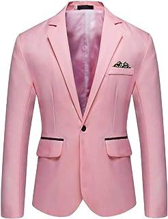 Mens Charm One Button Fit Formal Classic Blazer Wedding Party Jacket Suits Casual Luxury Vintage Retro Smart Elegant Dinne...