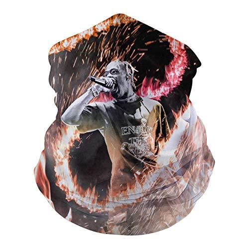 1107 Tr-av-is Sc-ott La Flame V2 - Pasamontañas multifunción para cubrir la cara, bandana elástica para exteriores