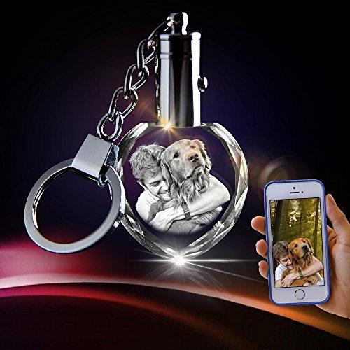 3D innovation Crystal Key Chain - Unique Custom Gift (Heart Keychain)