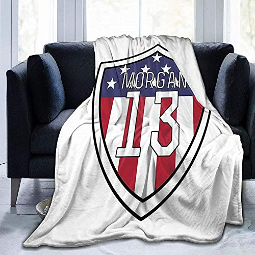 Fuzzy Blanket Alex Morgan Flannel Throw Blanket for Bed Couch Picnic Travel
