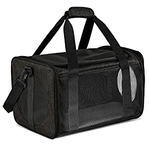 Moyeno Cat Carriers Dog Carrier Pet Carrier for Small Medium Cats Dogs Puppies up to 15 Lbs, TSA Airline Approved Small Dog Carrier Soft Sided, Collapsible Waterproof Travel Puppy Carrier