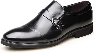 [Agogoo] 革靴 メンズ ストレートチップ ビジネスシューズ メンズシューズ 四季 防滑 軽量 通気性 冠婚葬祭 普段用
