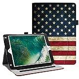 Fintie Case for iPad 9.7 2018 2017 / iPad Air 2 / iPad Air 1 - [Corner Protection] Multi-Angle Viewing Folio Cover w/Pocket, Auto Wake/Sleep for iPad 6th / 5th Generation, US Flag
