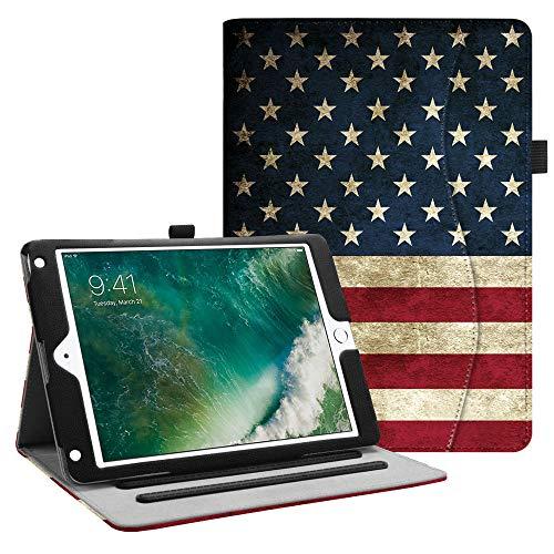 Fintie Case for iPad 9.7 2018 2017 / iPad Air 2 / iPad Air - [Corner Protection] Multi-Angle Viewing Folio Cover w/Pocket, Auto Wake/Sleep for iPad 6th / 5th Gen, iPad Air 1/2, US Flag