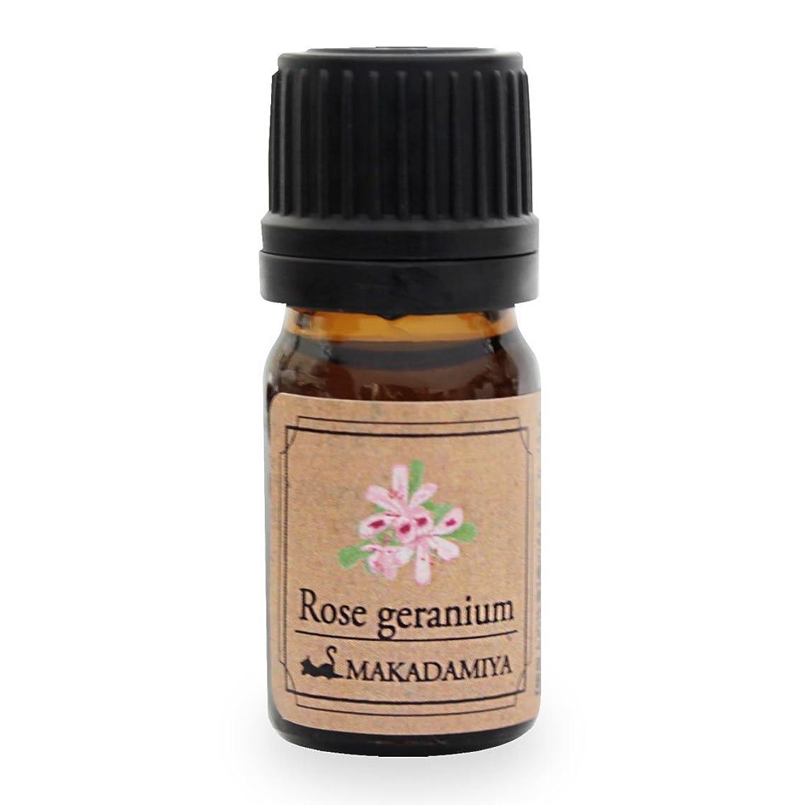 もつれ先生ふざけたローズゼラニウム5ml 天然100%植物性 エッセンシャルオイル(精油) アロマオイル アロママッサージ aroma Rose Geranium