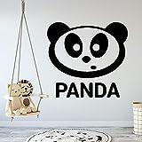 Tianpengyuanshuai Dibujos Animados Panda decoración del hogar Suministros para niños guardería decoración de la Pared Impermeable Arte calcomanía 36X37cm