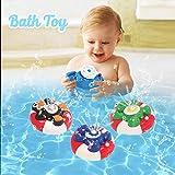 Wishtime Spray Water Baby Bath Toy Bomba de Agua Electronic Spray Toy Float Girar con Fuente Bañera Flotante Ducha Baño de Juguete para bebé Niño Niño Fiesta Infantil (Tortuga)