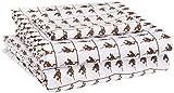 Amazon Basics Kid's Sheet Set - Soft, Easy-Wash Lightweight Microfiber - Twin, Brown Monkeys