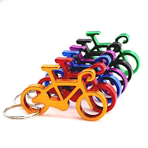Lezed 10 pezzi Portachiavi Apribottiglie a Forma di Bicicletta, Bicicletta Apribottiglie Birra in Alluminio Regalo per ciclisti Friends, Colore Casuale