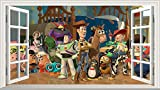 Toy Story 3D V001 - Adhesivo decorativo para pared (1000 mm de ancho x 600 mm de profundidad)