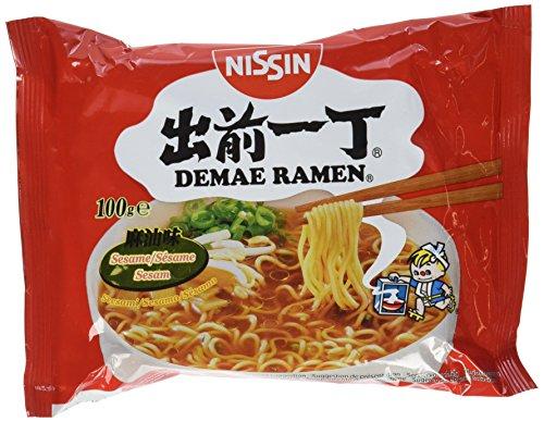 Nissin Demae Ramen – Sesam, 5er Pack, Instant-Nudeln japanischer Art, mit Sesamöl & asiatischen Gewürzen, schnell & einfach zubereitet, asiatisches Essen (5 x 100 g)
