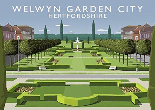 Chequered Chicken Welwyn Garden City Art Print (A4)