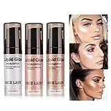 Cara líquido Highlighter Highlighter Maquillaje de Ojos Glitter aclaran Concentrado Iluminador Bronce Gotas Maquillaje Suministros