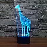 Jirafa 3d lámparas Illusions óptico, fzai Amazing 7 Changing Colors acrílico Touch Button mesa escritorio Night Light con 150 cm cable USB decoración de casa