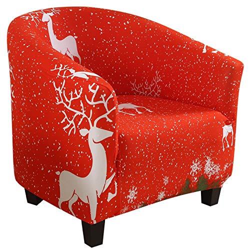 NIBESSER Sesselschoner Sesselüberwurf Sesselhusse Sesselbezug Weihnachten Elastisch Stretch Sofahusse Husse für Clubsessel Loungesessel Cocktailsessel